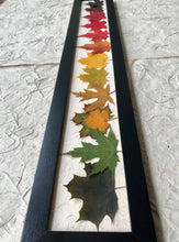 THE SKINNY Rainbow Maple; Pressed maple leaf framed artwork with black frame. Handmade in Canada