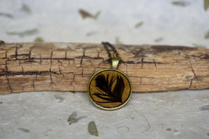 Spirit Bird Feather Necklace by Pressed Wishes - Crow Feather, Raven Feather, Black Feather, Bird Feather