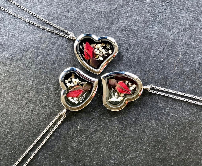 Rose Heart Locket