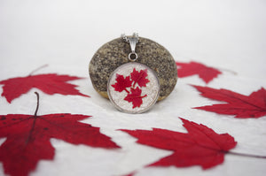 Canadiana Pendant Necklace by Canadian Artist Pressed Wishes out of Mabel Lake, BC, Canada