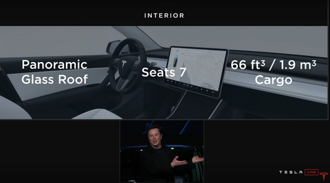 Model Y Interior (Source: Tesla.com)