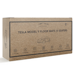 Tesla Model Y (5-Seater) Floor Mats:  All-Weather, 3D & Complete 8 Piece Set by ElonAccessories