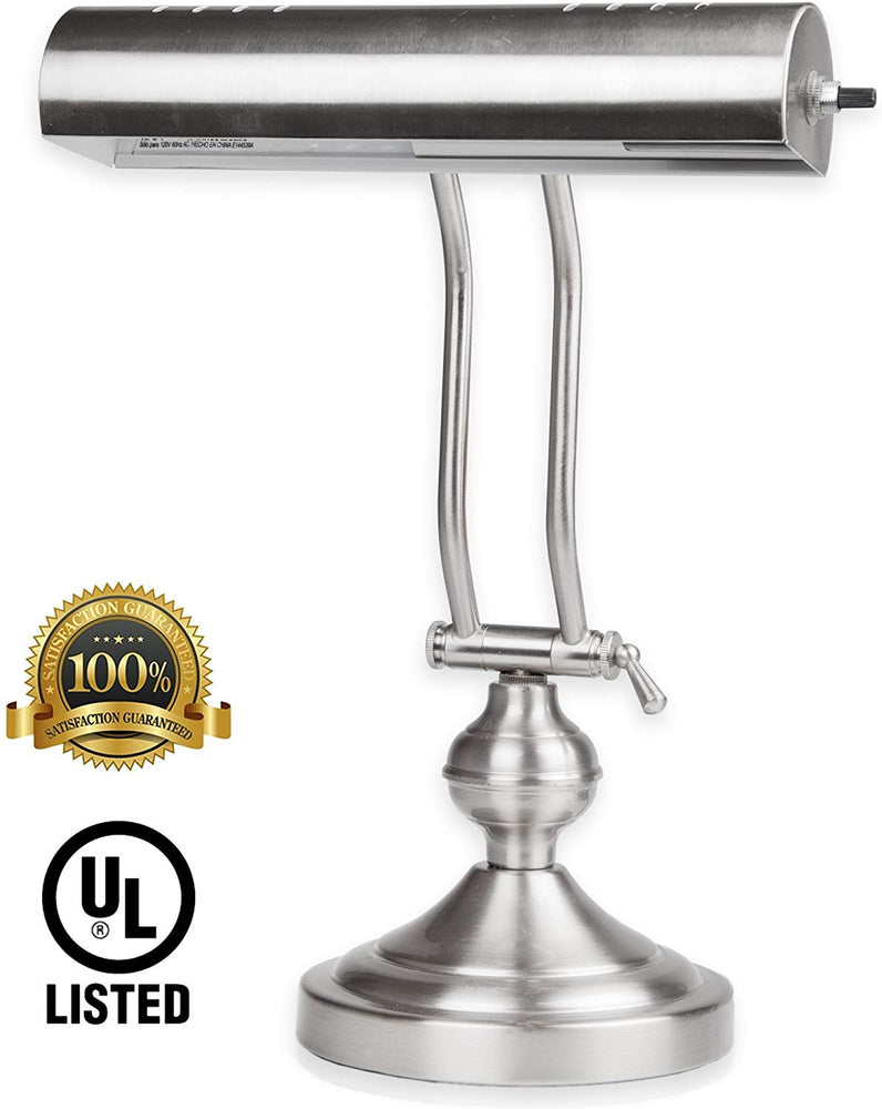 Home Intuition Classic Piano Desk Lamp, Satin Nickel