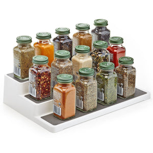 Home Intuition 3-Tier Spice Rack Step Shelf Cabinet Organizer (1)