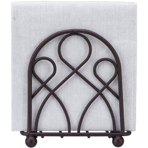 Home Intuition Loop Collection Bronze Napkin Holder - Weighted Design