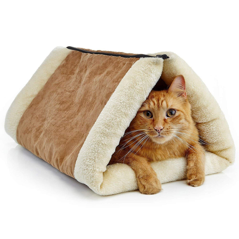 2-in-1 Zip Up Pet Triangle Tunnel Mat