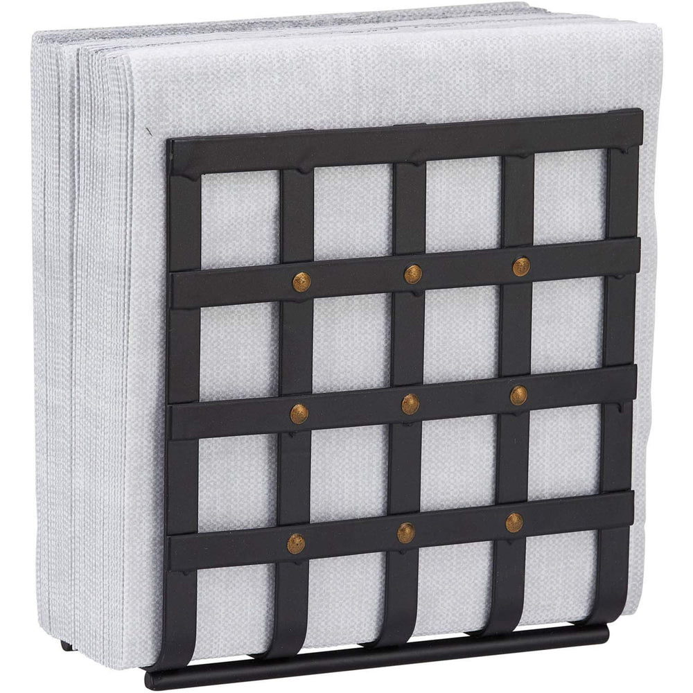 Home Intuition Stud Collection Standing Napkin Holder - Matte Black