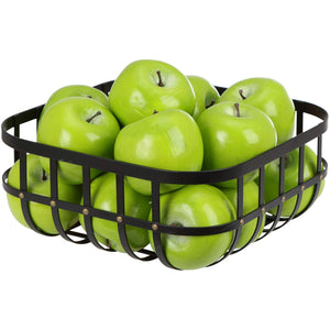 Home Intuition Stud Collection Fruit Bowl for Kitchen and Dining Room Tables, Matte Black