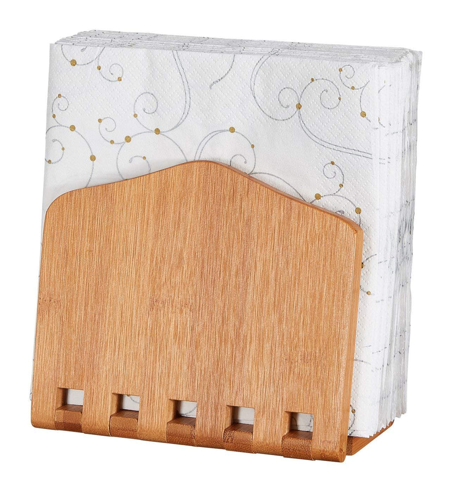 Home Intuition Bamboo Adjustable Napkin Holder