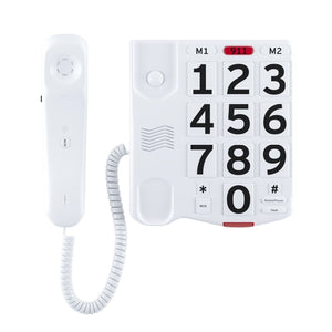 Amplified Single Line Corded Desk Telephone with Large Easy to Read Buttons and Extra Loud Ringer