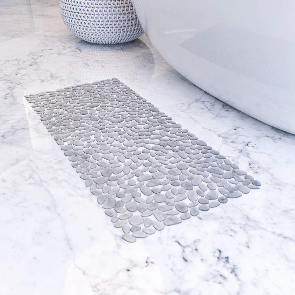 Home Intuition Clear Pebble Bath Mat for Bathtub - Non Slip Shower Mats Prevent Slips