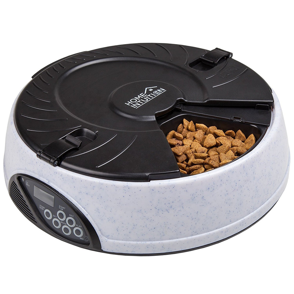 6 Meal Automatic Pet Feeder with Programmable Timer