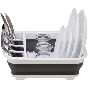 "Home Intuition Collapsible Dish Rack and Drainer 14.25"" x 12.5"" x 5"" White"