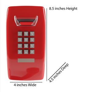 Home Intuition Single Line Wall Mounted Corded Telephone, Red