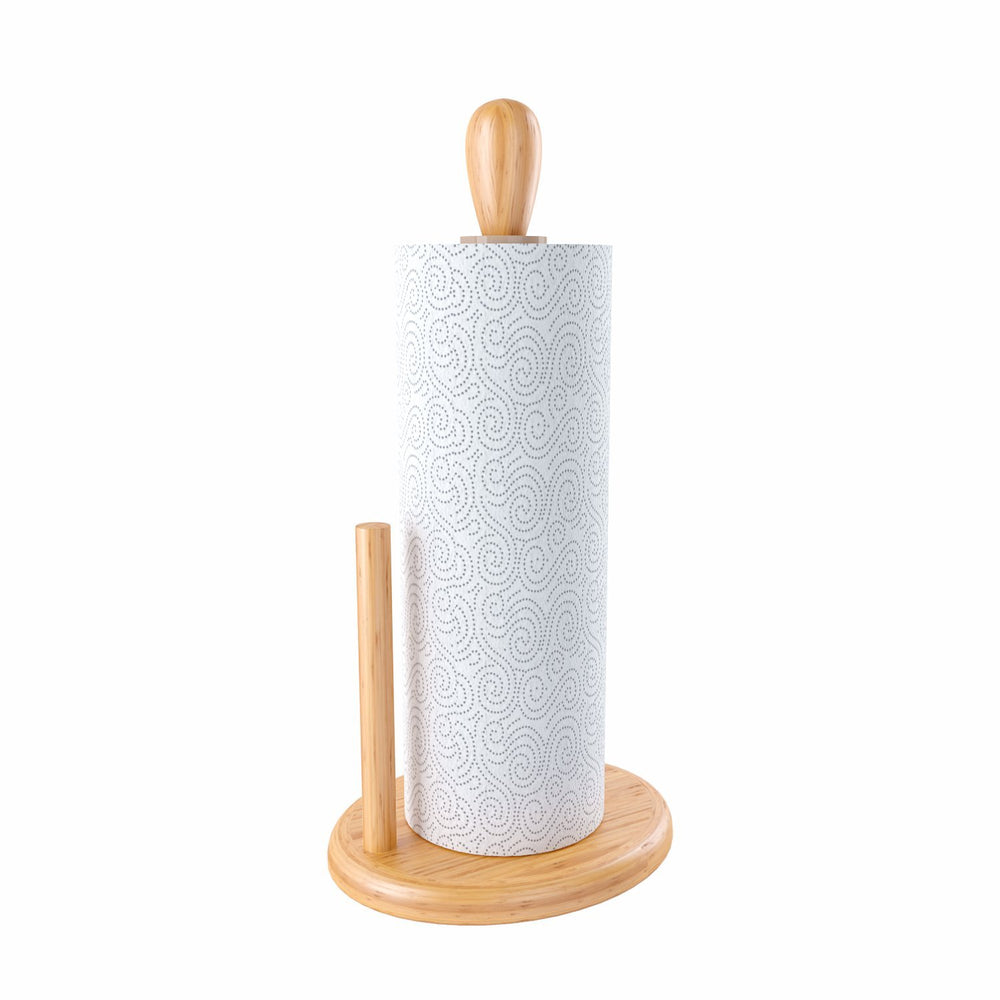 Home Intuition Counter Top Bamboo Paper Towel Holder