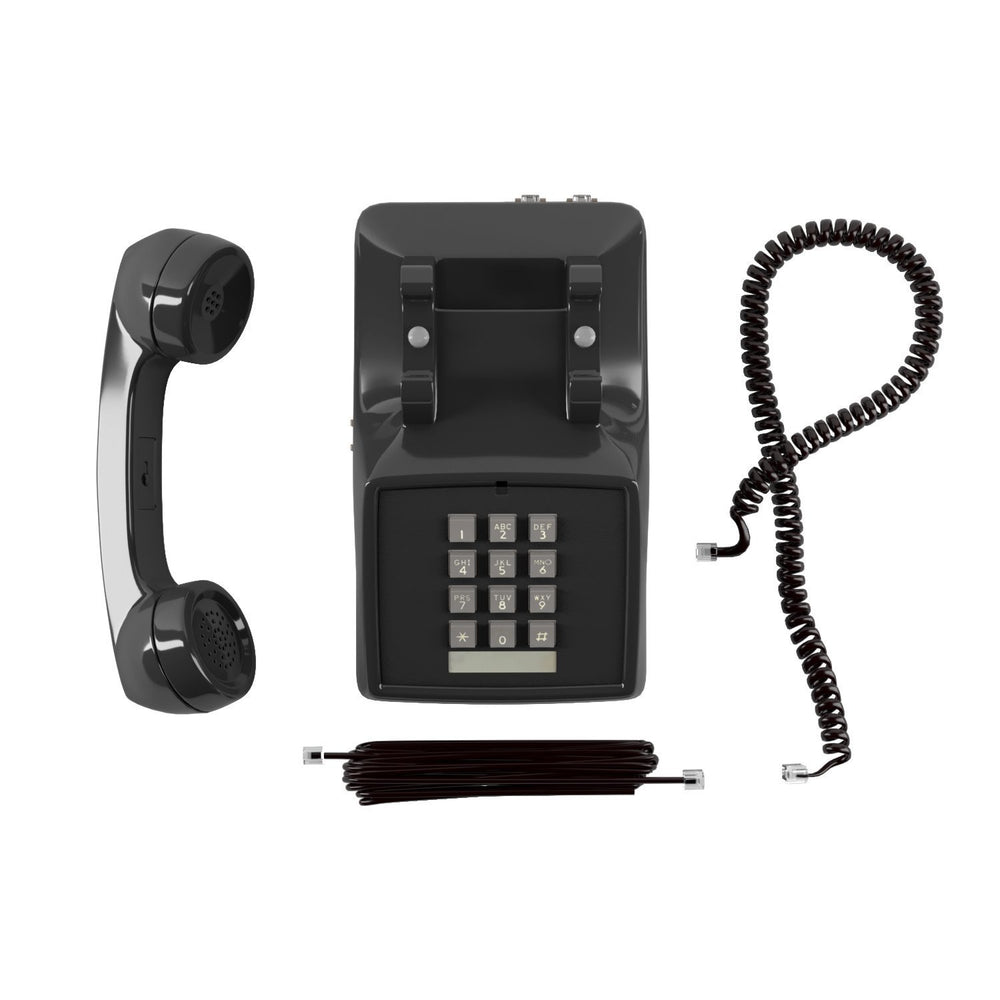 Amplified Single Line Corded Desk Telephone with Extra Loud Ringer, Black