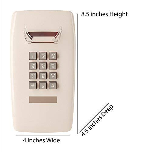 Home Intuition Single Line Wall Mounted Corded Telephone, Ash