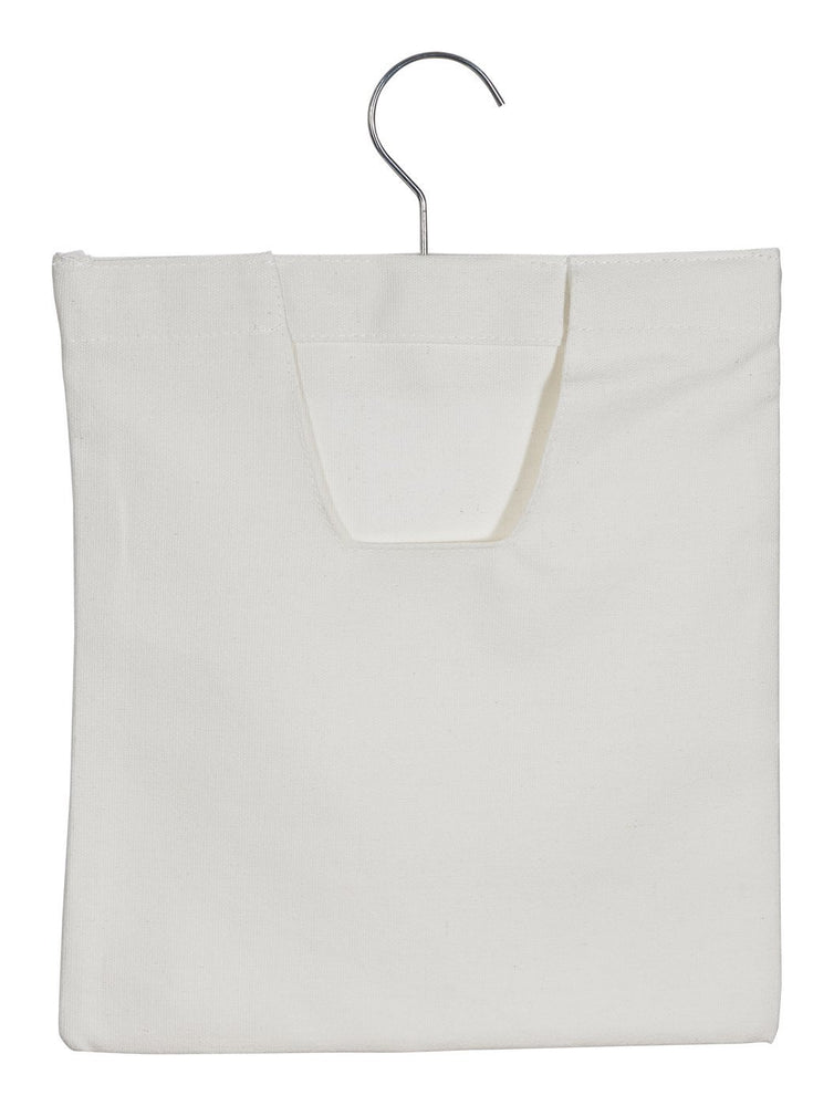 Home Intuition Hanging Large Canvas Clothespin Storage Bag
