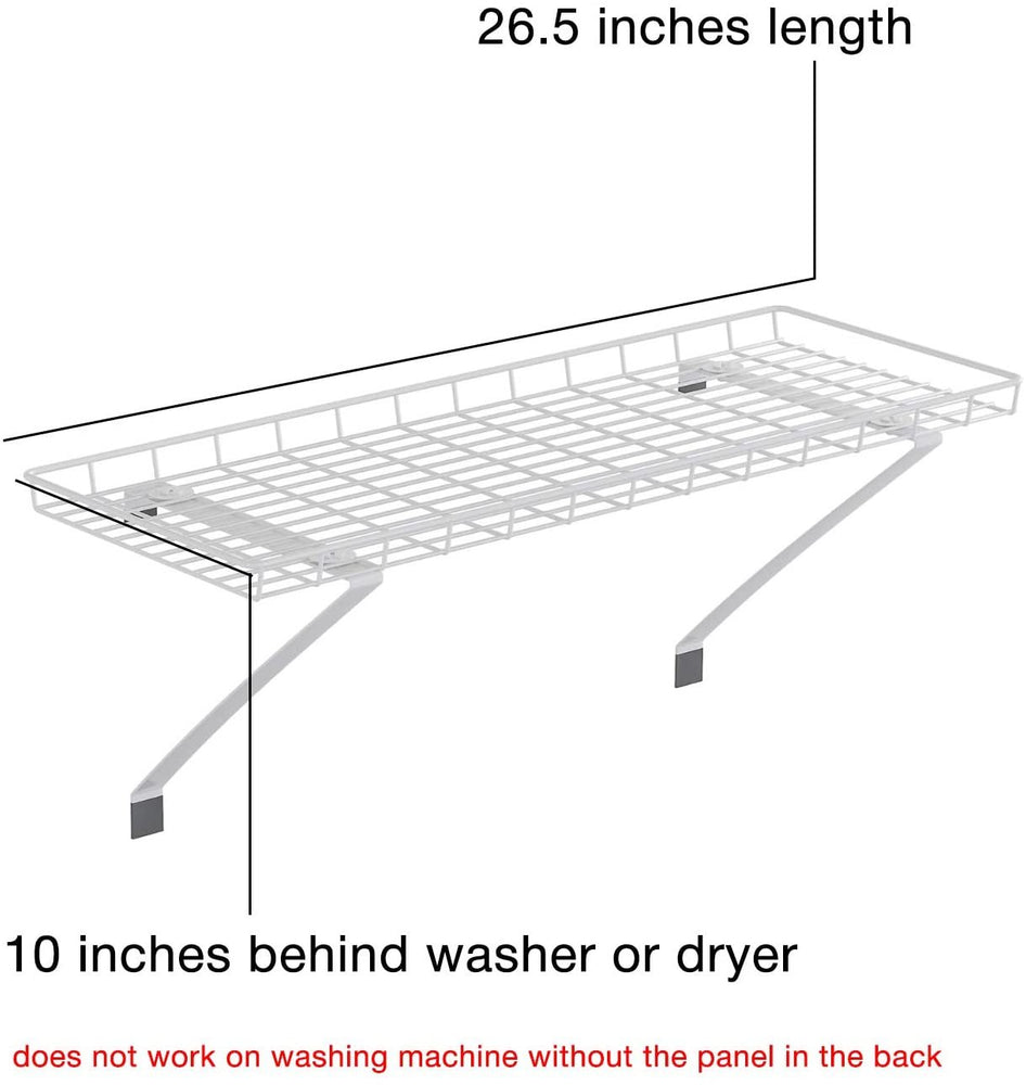 Home Intuition Over The Washer and Dryer Laundry Storage Supplies Shelf, White