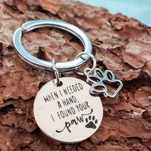 When I Needed a Hand Keychain - Jasper Go Fetch
