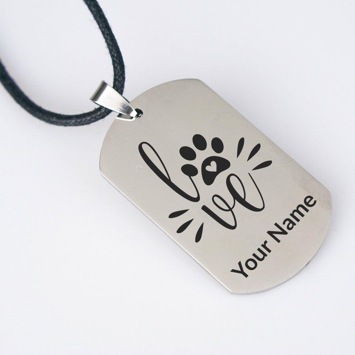 Love Personalized Dogtag Necklace - Jasper Go Fetch