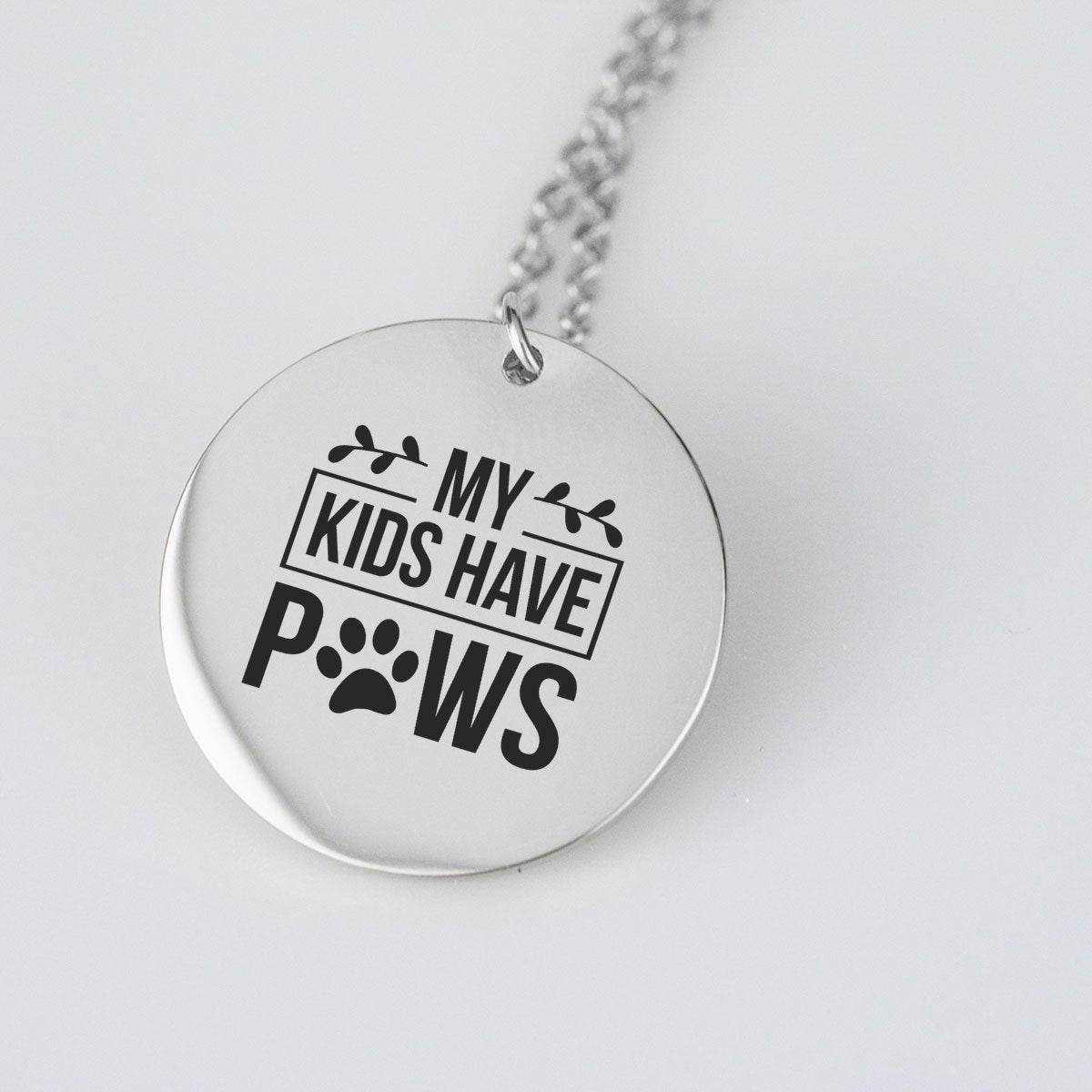 My Kids Have Paws Necklace