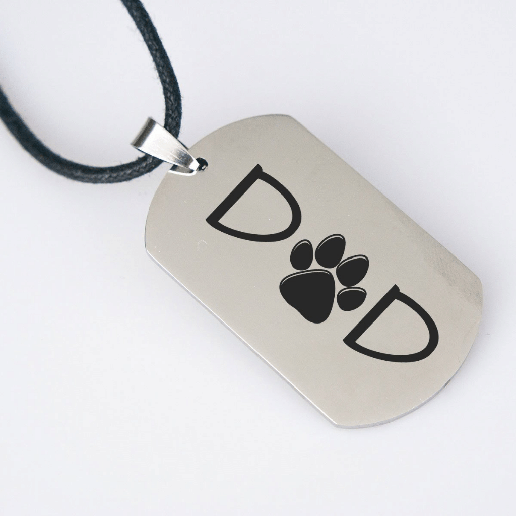 Dog Dad Dogtag Necklace - Jasper Go Fetch