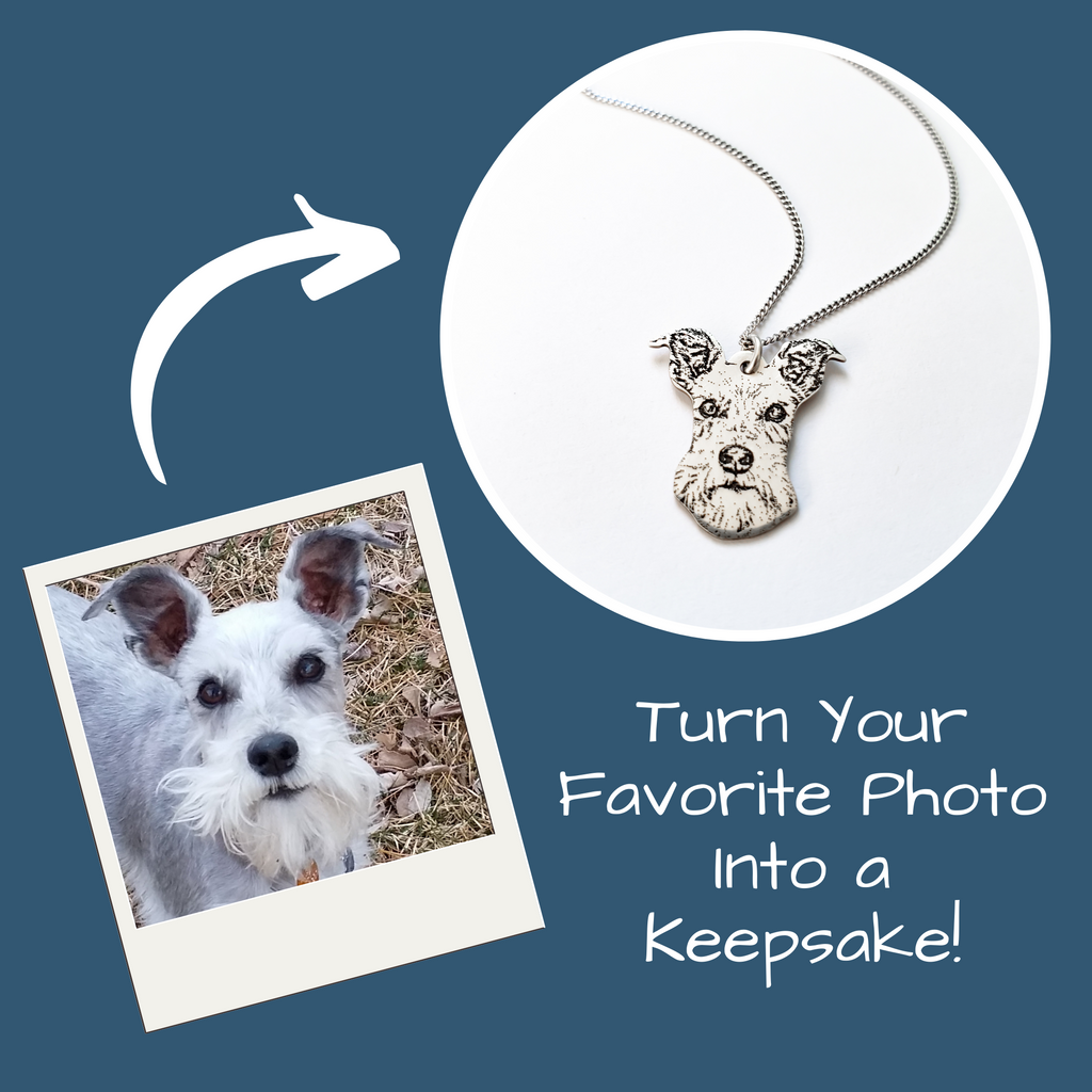 Personalized Photo Pendant Necklace - Jasper Go Fetch