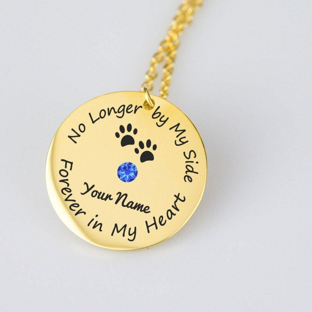 Forever In My Heart Personalized Memorial Necklace - Jasper Go Fetch