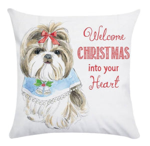 Christmas Doglover Pillow Covers
