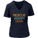 Load image into Gallery viewer, Rescue Adopt Love V-Neck Tee - Jasper Go Fetch