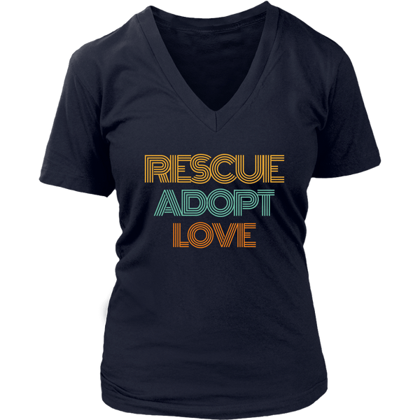 Rescue Adopt Love V-Neck Tee