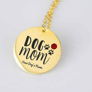 Dog Mom Personalized Necklace - Jasper Go Fetch