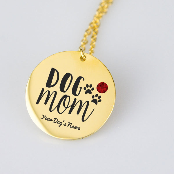Dog Mom Personalized Necklace