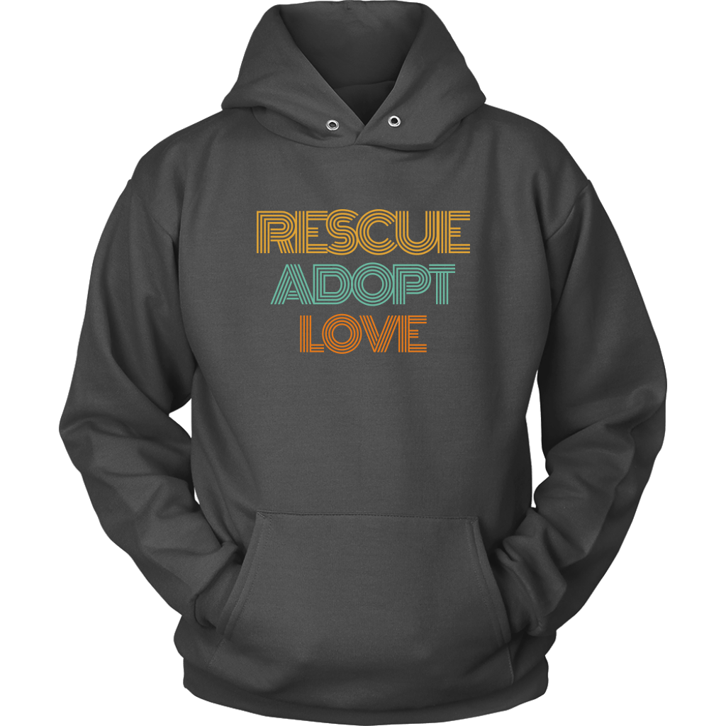 Rescue Adopt Love Hoodie - Jasper Go Fetch