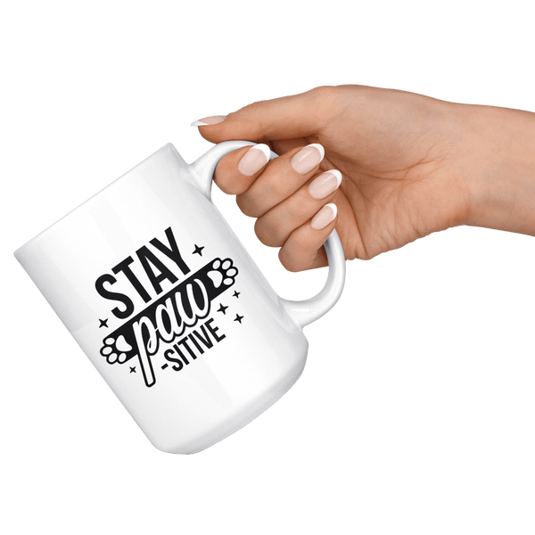 Stay Pawsitive Mug