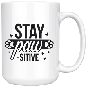 Stay Pawsitive Mug - Jasper Go Fetch