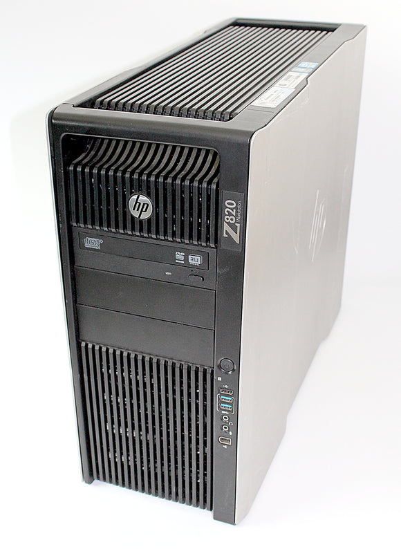 HP Workstation Z820 - Desktop, 2x Xeon E5, 2.00 GHz,  4x 1TB, 64GB, Grade A Refurbished