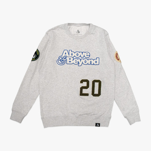 A&B Chenille Patch Crewneck Sweater