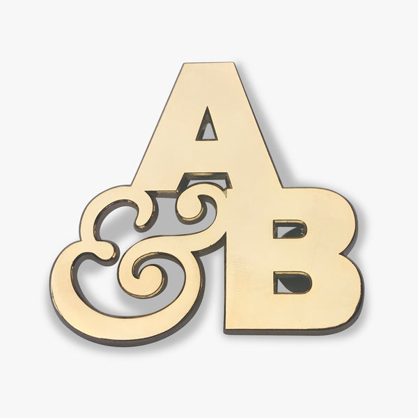 A&B Gold Enamel Pin