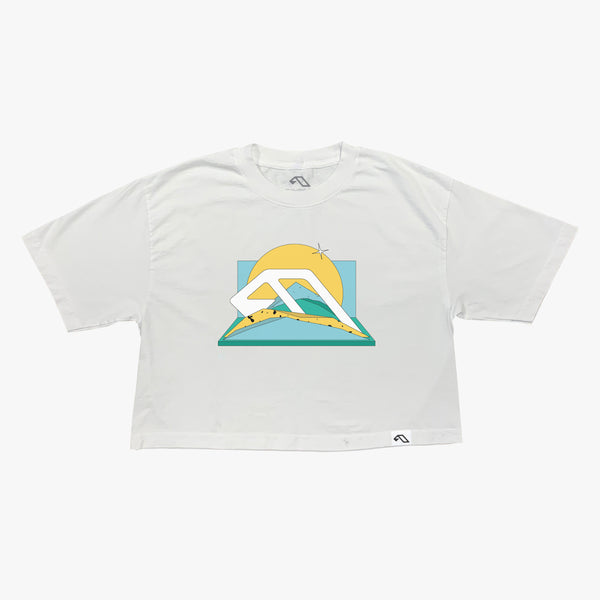 Anjunadeep Women Oversized Crop Tee / White