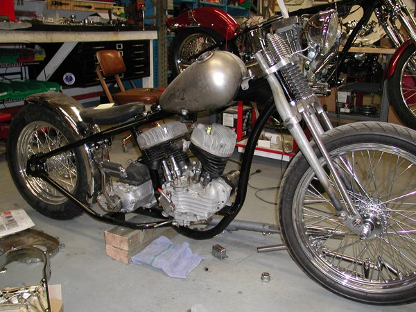 45 frame with a bigtwin tranny mount?