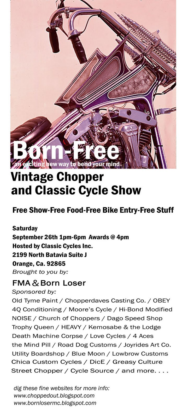Born Free Bikes and Art Show: Classic Cycles, OC, CA