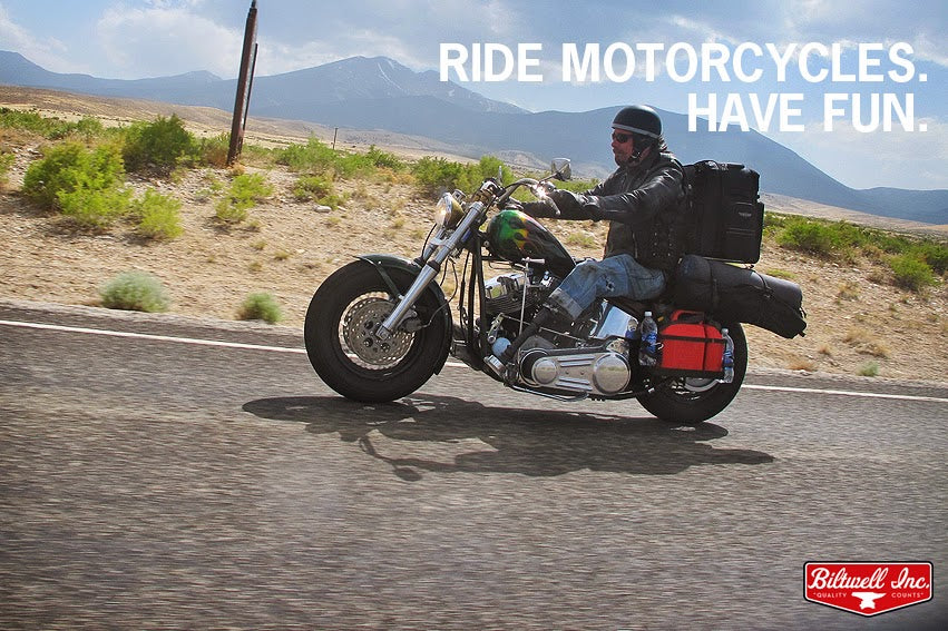 Ride Motorcycles. Have Fun.