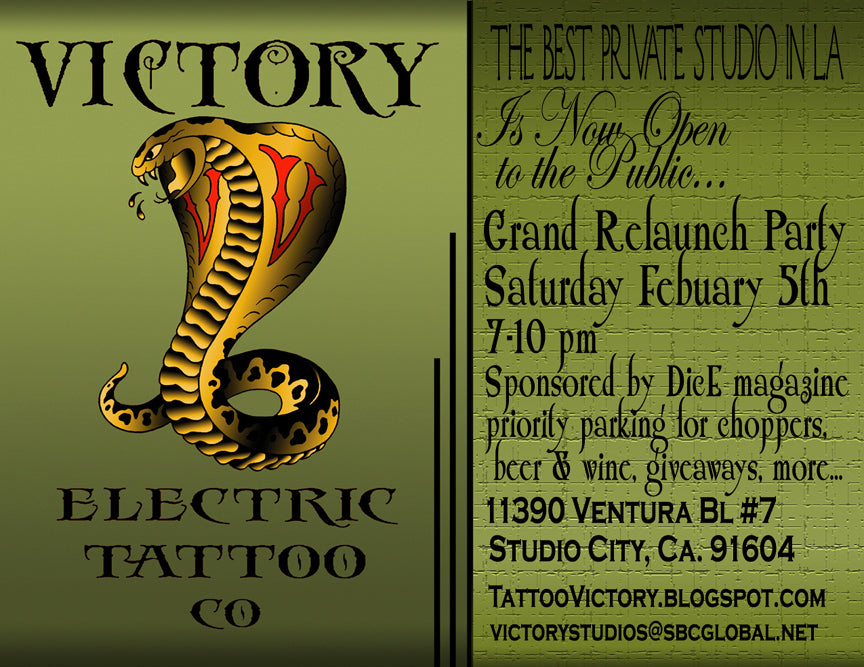 Relaunch of Electric Tattoo Co.