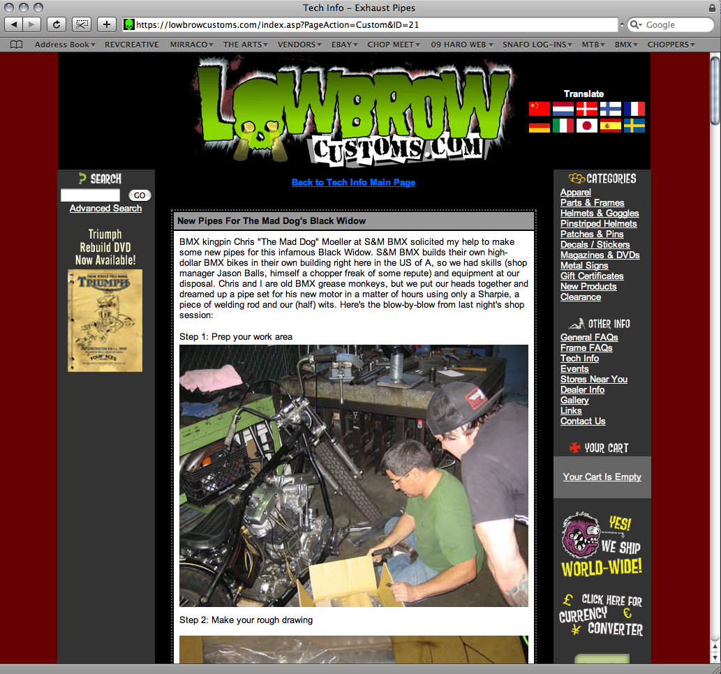 Lowbrow Customs Tech Section