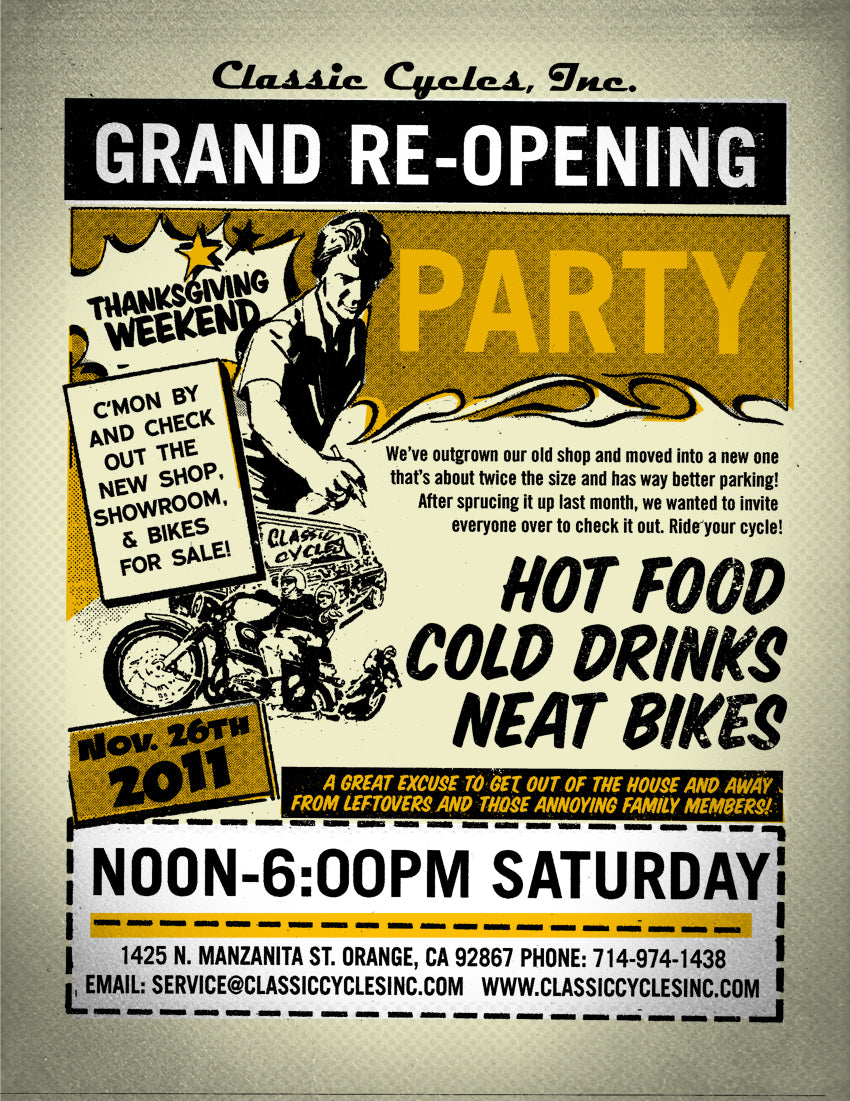 Classic Cycles Inc Grand Re-Opening Party