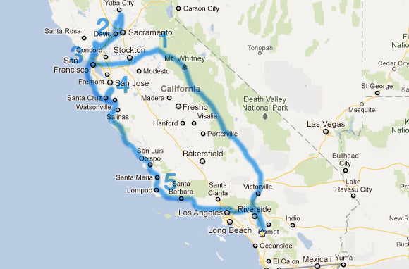 Nor Cal Route