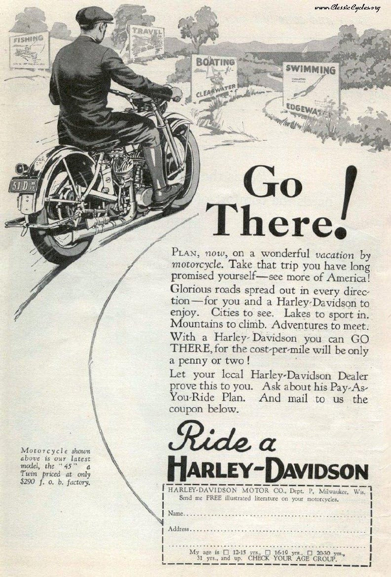 Old Harley Ads