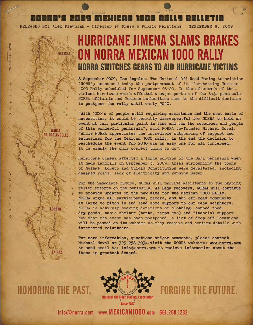 NORRA Mexican 1000 Cancelled – Biltwell Inc. on